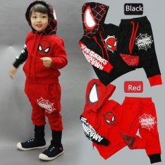 Two-piece children   spiderman suit