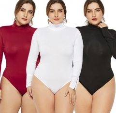 Charming Plus size tight bodysuit