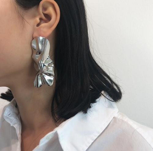Charming Irregular mirror earrings