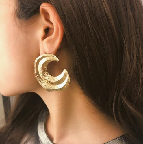 Charming Simple meniscus semi-circular earrings