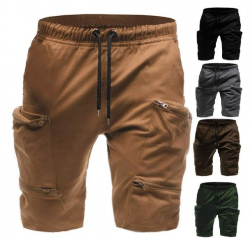 Charming Men's casual multi-pocket shorts
