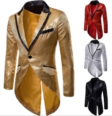 Charming Sequined lapel suit