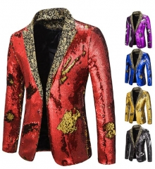 Charming Sequined suit stage costume
