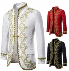 Charming Golden opera stage performance clothing