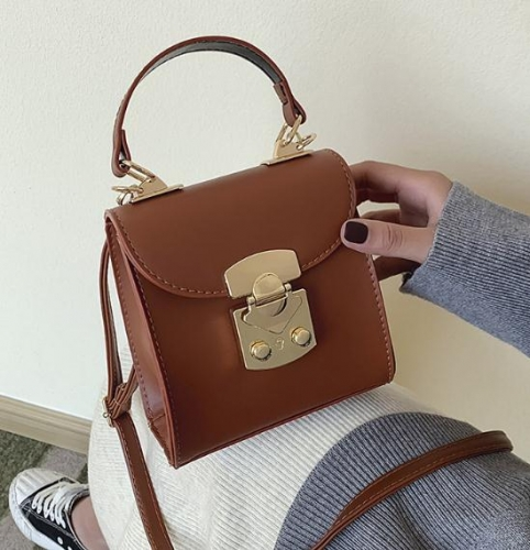 Charming One-shoulder lock handbag