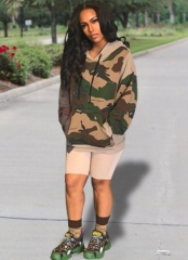 Charming Camouflage hooded sweater