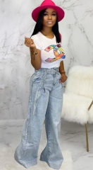 Charming Loose Straight Wide Leg Jeans