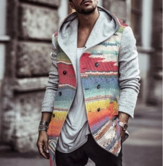 Charming  Business Rainbow Print Jacket