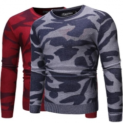 Charming Camouflage crew neck sweater