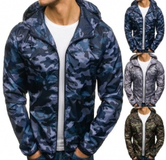 Charming Camouflage hooded jacket