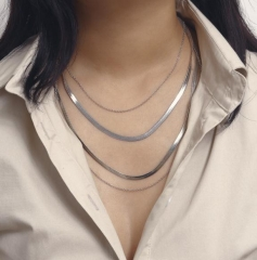 Charming Snake bone chain multi-layer necklace