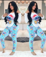 Charming Cartoon print pants set