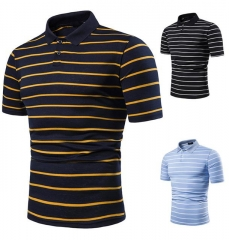 Charming Pinstriped Fashion Short Sleeve T-Shirt