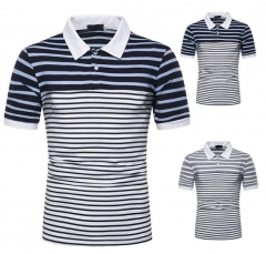 Charming Striped colorblock short sleeve T-shirt