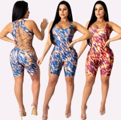 Charming Sexy Band Printed Rompers