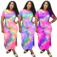 Charming Tie-dye split dress