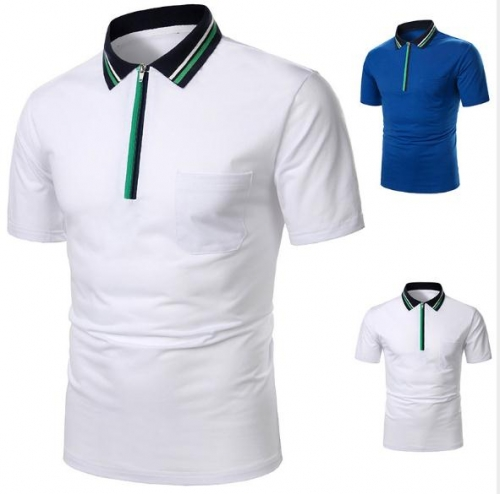 Charming Casual men's short sleeve POLO shirt