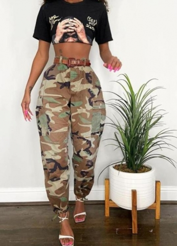 Charming Casual camouflage printed pants