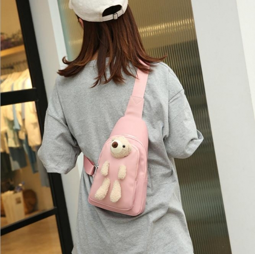 Charming Student wild ins messenger cute bear bag