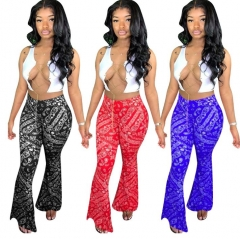 Charming Totem Multicolor Flare Pants