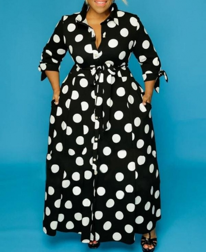 Charming Printed plus size dress