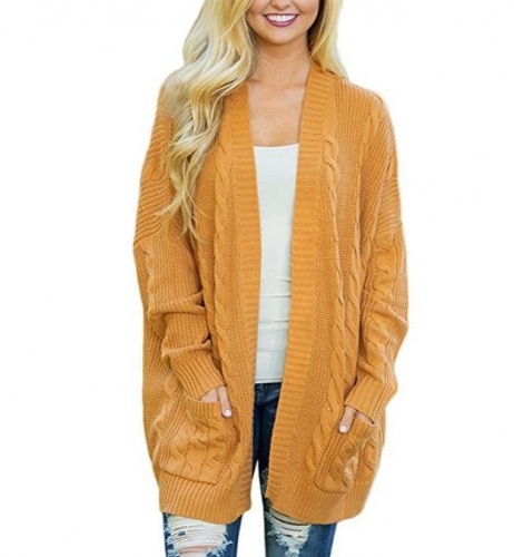Charming Loose plus size sweater mid-length cardigan