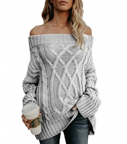 Charming Thick thick thread twist strapless sweater