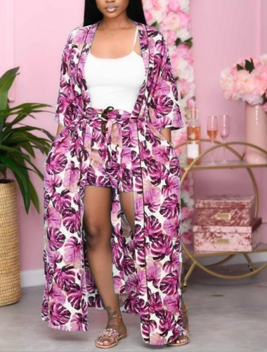 Charming Printed bandage two-piece suit
