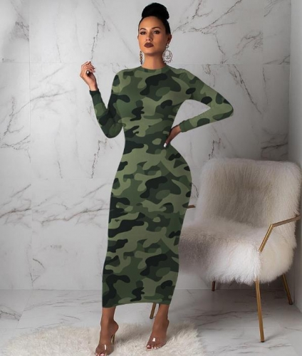 Charming  Camouflage printed dress