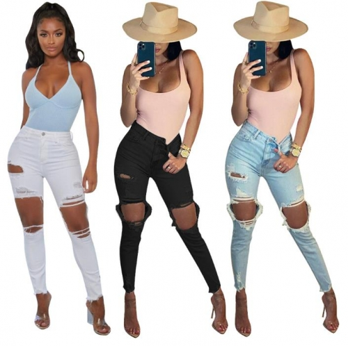Charming  Slim-fit ripped jeans