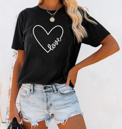 Charming Casual Letter print T-shirt