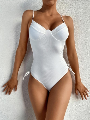 Charming Sexy solid color one-piece swimsuit