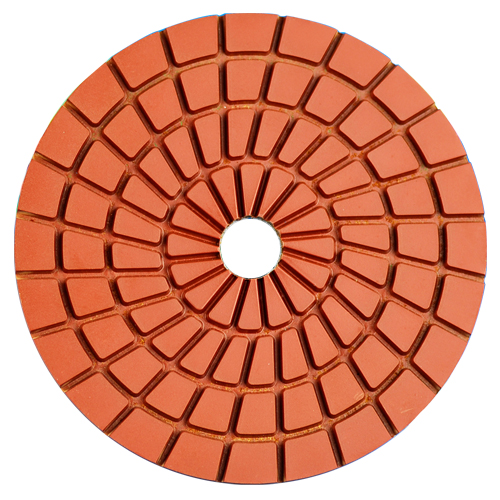5-step wet polishing pad