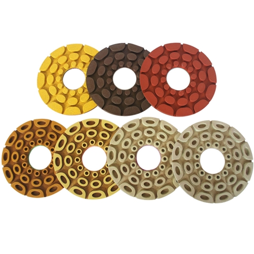 """Shinex GEM"" Automatic Edge Diamond Polishing Pads for Straight and Beveled Edge of Granite"