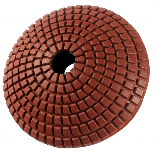 Regular convex wet polishing pad