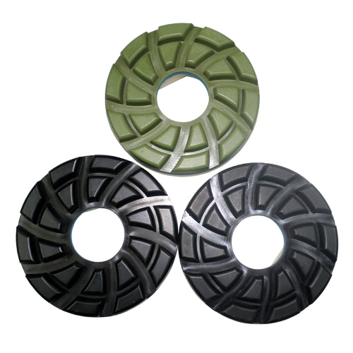 5''/125mm automatic machine snail lock polishing pad