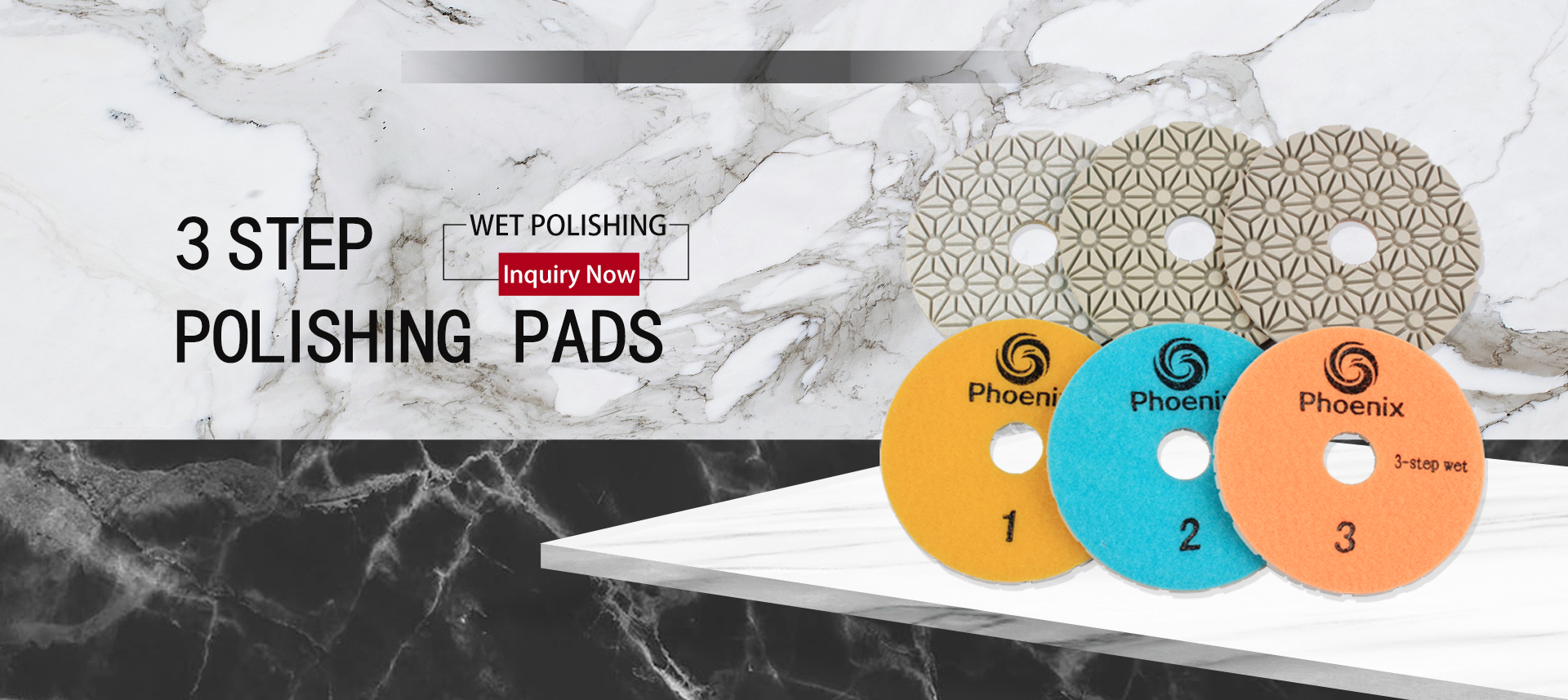 Raizi Phoenix 3-Step diamond Polishing Pads