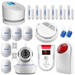 Kerui W2 2.4 inch 99 wireless zones WIFI PSTN wired wireless home burglar security GSM alarm system