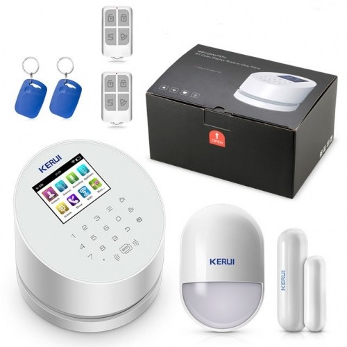 Kerui W2 2.4G WIFI network GSM PSTN wireless home burglar security alarm system