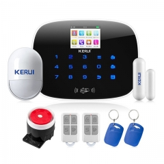 kerui w193 GSM (support 3G) + WIFI+ PSTN alarm system SMS wireless home alarm system
