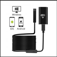 KERUI 1200P WIFI Endoscope Camera Waterproof Inspection Camera 8mm USB Soft Wire Endoscope Borescope For Android PC IOS