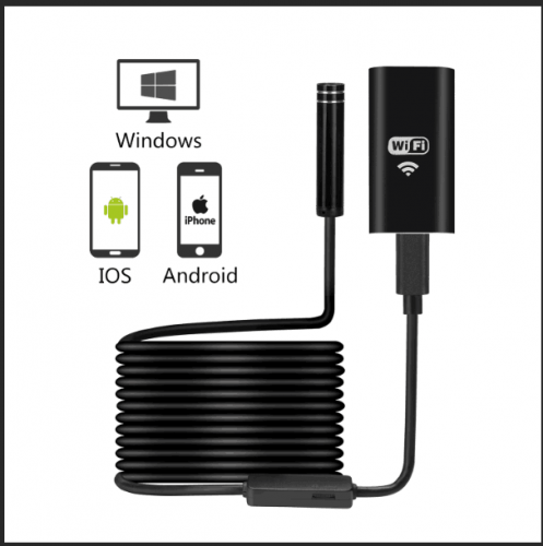 KERUI 1200P WIFI Endoscope Camera Waterproof Inspection Camera 8mm USB Soft Wire Endoscope Borescope For Android PC IOS