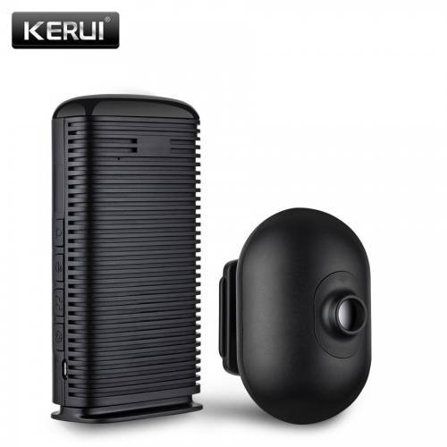 KERUI Wireless Home Alarm Waterproof PIR Motion Sensor Detector Security Alarm System Driveway Garage burglar Sensor Alarm