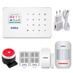 KERUI Factory G18 Android ISO App Wireless GSM Home Alarm System SIM Smart Home Burglar Security Alarm System Kit PIR infrared