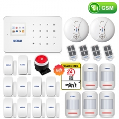 KERUI  G18 Android ISO App Wireless GSM Home Alarm System SIM Smart Home Burglar Security Alarm System Kit PIR infrared