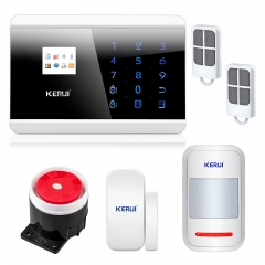 KERUI 8218G GSM PSTN dual network English/France/Spanish/Russian Wireless Touch Keypad LCD Display  IOS/Android APP control home security Alarm system