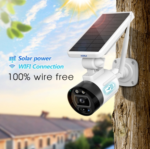 KERUI 1080P 2MP Solar Wireless Battery Camera WIFI Outdoor Security IP Camera Alexa Cloud IP66 Waterproof CCTV Surveillance