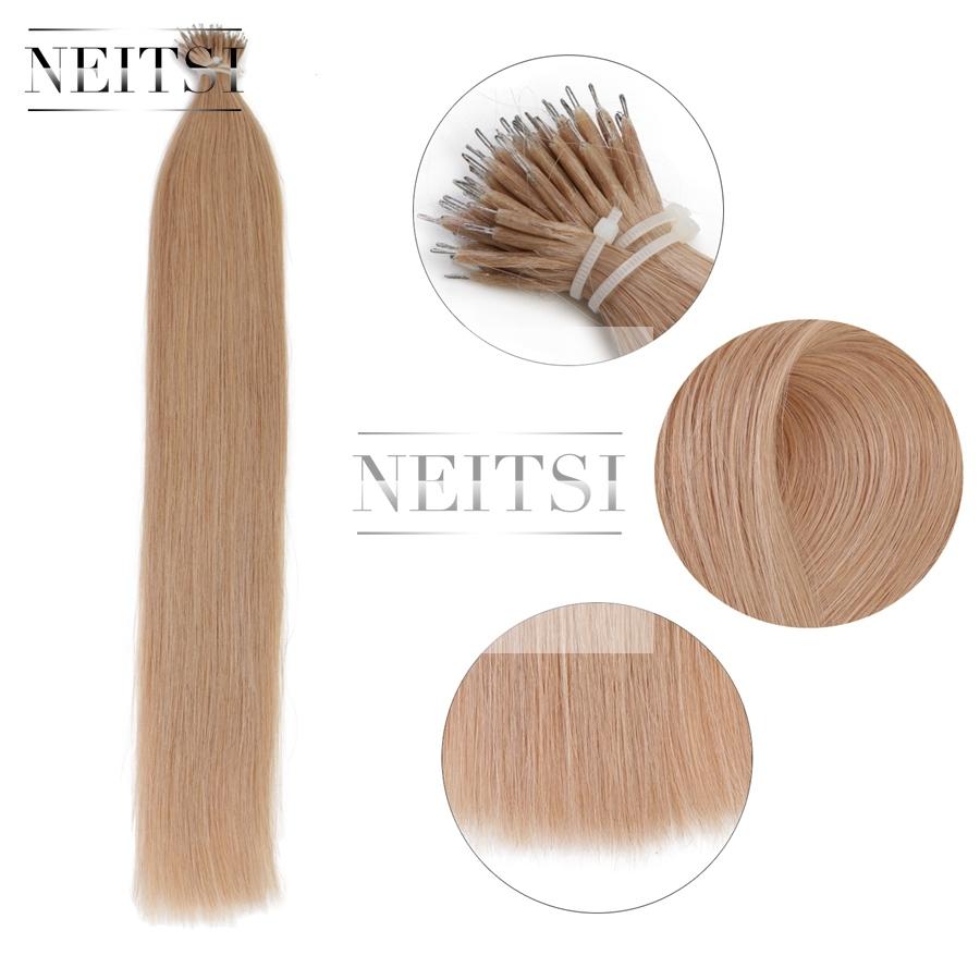 Neitsi 20 1gs 50s 100 Nano Ring Loop Hair Straight Keratin Human