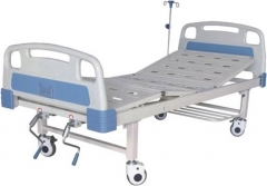 High Quality Manual folding Hospital Bed wiht ABS Headboard CW-A00015
