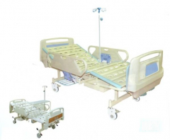 Three-Folded deluxe manual Hospital Bed CW-A00035